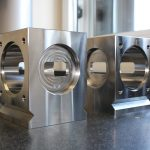 Cube Machined Component on Table